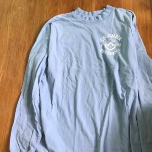 Columbia University long sleeve shirt